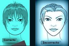 forma del rostro y peinado
